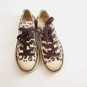 7ee0827222f4 Converse Shoes - NWOT Kids Leopard All star converse